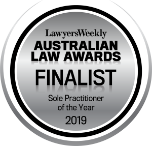 Mal Zraika Finalist Sole Practitioner of the Year 2019